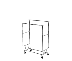 VacQfix™ Mobile Storage Rack - Dual Bar