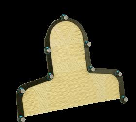 Fibreplast®, Portrait™ S-frame Variable Perf Head & Shoulder with Integrated Shim™, 3.2 mm