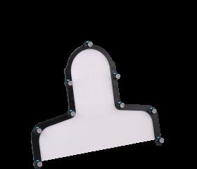 Aquaplast RT™, Portrait™ S-frame Head & Shoulder with Integrated Shim™, 3.2 mm